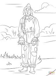 wizard of oz scarecrow coloring page free printable coloring pages