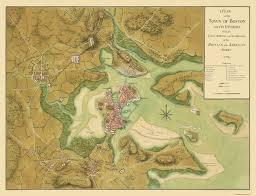 Map Of Ma Old City Map Boston Massachusetts 1776