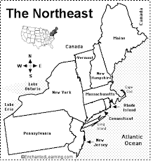 northeast map of us northeastern states map quiz printout enchantedlearning com