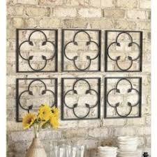 primitive garden gate panel wrought iron metal wall quatrefoil