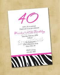 Printable Birthday Party Invitation Cards Birthday Invites Simple 40th Birthday Invitation Wording Ideas