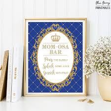 royal blue baby shower printable momosa bar royal blue u0026 gold baby shower mimosa