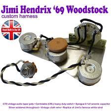 jimi hendrix reproduction stratocaster strat wiring kit hand