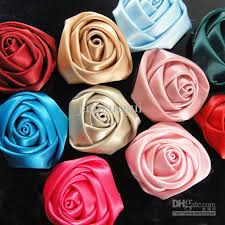 satin ribbon wholesale 2017 wholesale 1 6 satin ribbon flowers heads flowers from