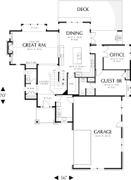 craftsman style house plan 5 beds 4 50 baths 3926 sq ft plan 48 563