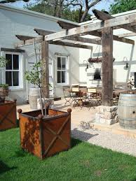 delightful whiskey barrel planter decorating ideas for patio