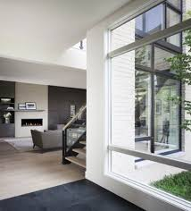 Grey House Colors Awesome Wooden Flooring Under Black Sofa And Winsome Interior
