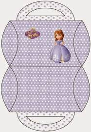 sofia party free printable pillow boxes prenses