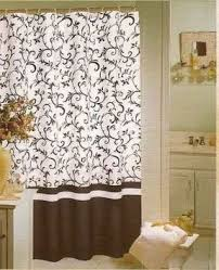 Shower Curtains Ebay Curtain Toile Curtains Ebay Regarding Black And White Toile