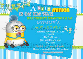 minion baby shower minions baby shower invitation