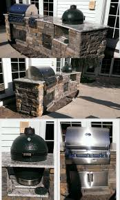 Outdoor Kitchen Against House Best 25 Big Green Egg Outdoor Kitchen Ideas On Pinterest Big
