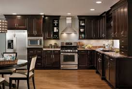 amazing of espresso kitchen cabinets in interior decor ideas with