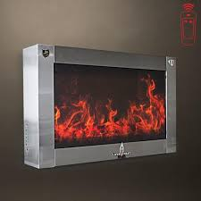 Lava Heat Patio Heaters Lava Heat Giovanni Led Wall Fireplace Electric Patio Heater