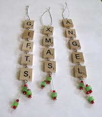 scrabble tile ornaments set of three by rbdesign on etsy