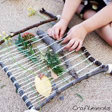 nature weaving craft scouts pinterest weaving looms