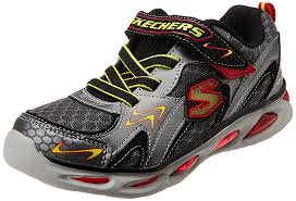 skechers womens light up shoes boy s skechers s lights ipox rayz light up sneaker grey red 11 m