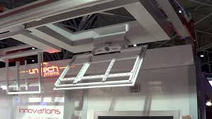 Drop Down Tv From Ceiling by Unitech Systems Fplcv2slim R Flat Tv Ceiling Lift With Rotation At