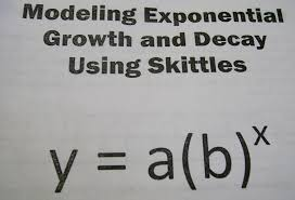 Exponential Functions Word Problems Worksheet Math U003d Love Modeling Exponential Growth And Decay With Skittles