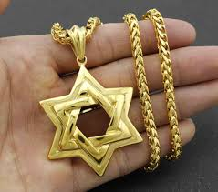gold mens necklace pendant images Golden men biker stainless steel jewish star of david pendant jpg