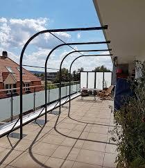 pergola aus metall für garten balkon oder terrasse staub - Pergola Balkon
