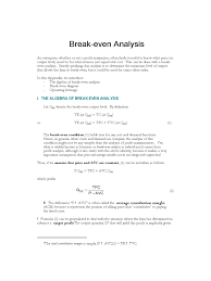 break even analysis template 5 free templates in pdf word
