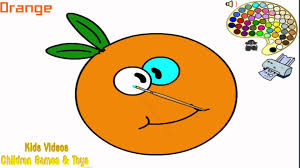 orange coloring pages for kids orange coloring pages hd youtube