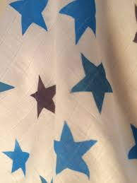 Multicoloured Flag Baby Muslin Multicoloured Screenprint Stars