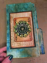 file cover design handmade stencilgirl talk gwen s gems file folder mini art journal