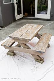 Kids Wooden Picnic Table Kids U0027 Picnic Table Makeover Fix The Rot Or Just Paint It So