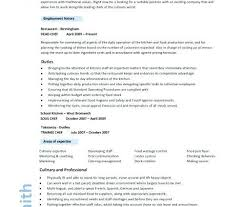 Chef Resume Template Free 100 Pastry Chef Resume Template Culinary Resume Examples