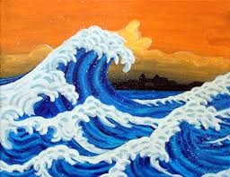 painting waves be creative mary