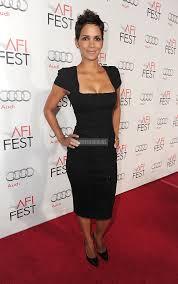 neck column cap sleeves tea length black satin celebrity dress