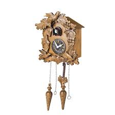furniture lovely cuckoo clock in chocolate with bird ornament for
