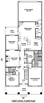 home plans narrow lot floor plan of craftsman narrow lot house plan 46858