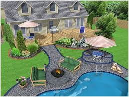 backyards bright modern looking garden fixtures look great among