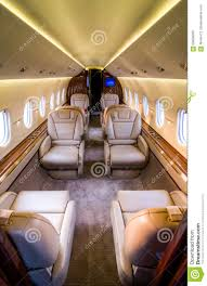 private jet interior cabin stock photo image 69428593