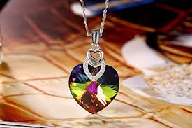 crystal love heart necklace images Change color necklace plato h brave heart pendant necklace with jpg