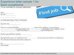receptionist find or advertise jobs for free in toronto bank receptionist experience letter
