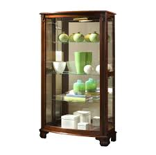 Home Furniture Picture Gallery Curio Cabinet Hailey Door Curio Cabinet In Driftwood Byaski Home