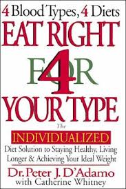 Or Books A New Type Book Review Eat Right 4 Your Type 4 Blood Types 4 Diets Dr