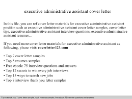 executive assistant cover letter executive administrative assistant cover letter 1 638 jpg cb 1411185220