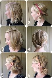 nice hairstyle for short medium hair with one hair band one week of great hair simple hairstyles for medium length