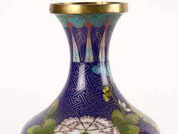 Chinese Vases Uk C1880 Pair Of Chinese Cloisonne Baluster Vases Ebay