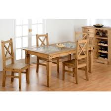 pine dining room furniture dining table tile top solid pine dining table set tara in white