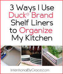 3 ways i used the duck brand shelf liner to organize my kitchen