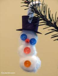 cotton snowman ornament monthly seasonal crafts