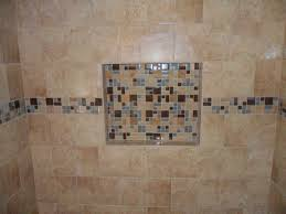 colorful ceramic tile wall niche shelf for shower decofurnish