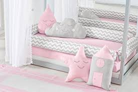 Duvet Baby Amazon Com Toddler House Bed Montessori Pink Chevron Baby