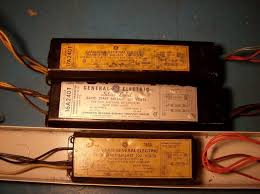 Fluorescent Light Ballasts Old Fluorescent Ballasts From The 50s 60s And 70s Electrician