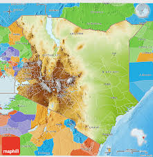 geographical map of kenya physical 3d map of kenya political outside shaded relief sea